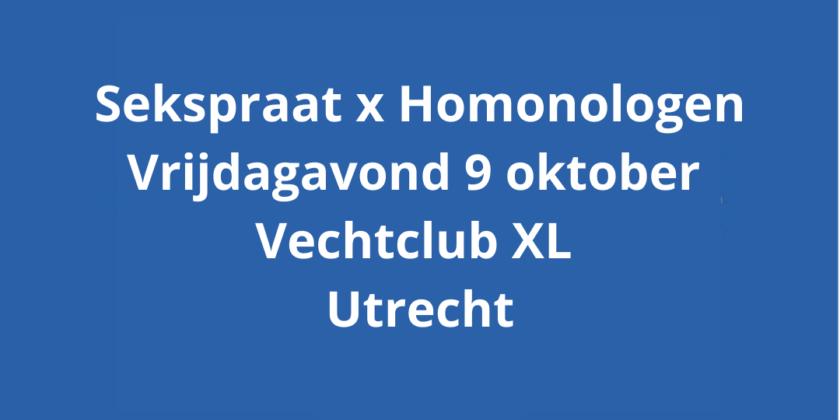 9-okt SEKSPRAAT x Homonologen: theater en dialoog over seksualiteit en de liefde